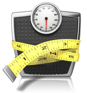 image of a scale with measuring tape renewed-mindset.com helps to gain or loose weight